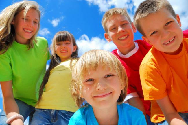 children smile